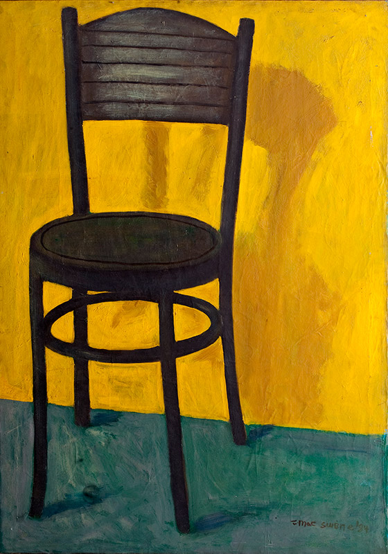 Tadhg McSweeney: Chair in Yellow Room, 1984, Oil on canvas, 84 x 118 cm