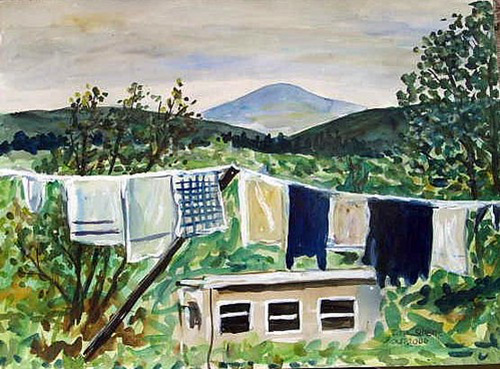 Clothesline watercolor by Tadhg McSweeney