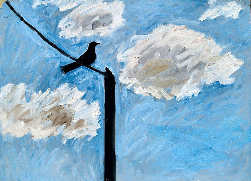 Bird on wire 2 by Tadhg McSweeney