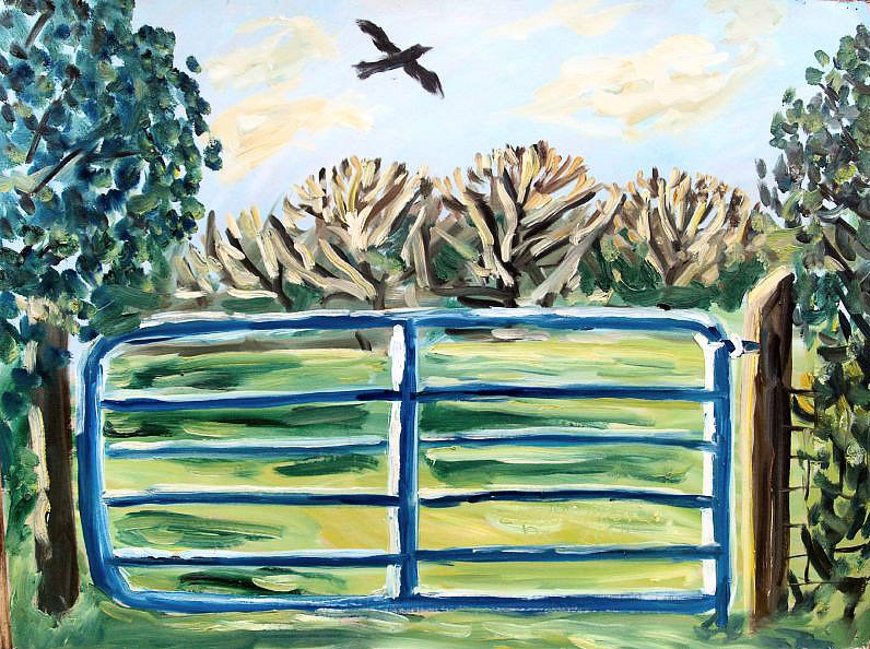 Blue gate by Tadhg McSweeney