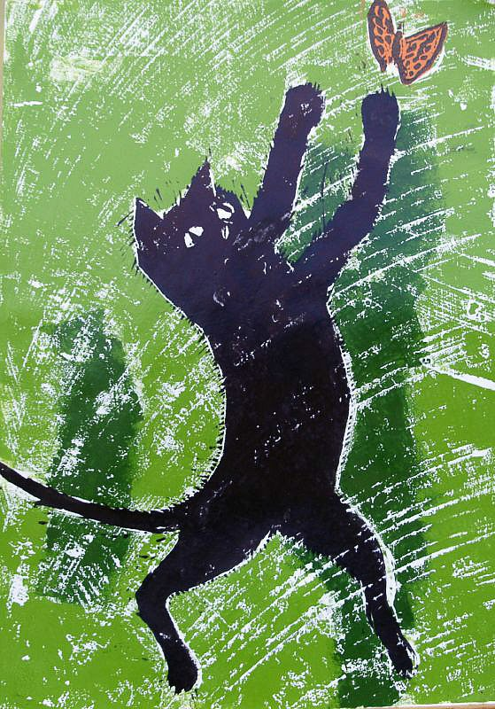 Cat and butterfly by Tadhg McSweeney