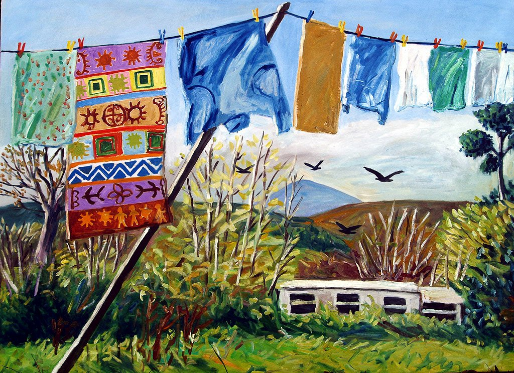 Clothesline with Sheha by Tadhg McSweeney