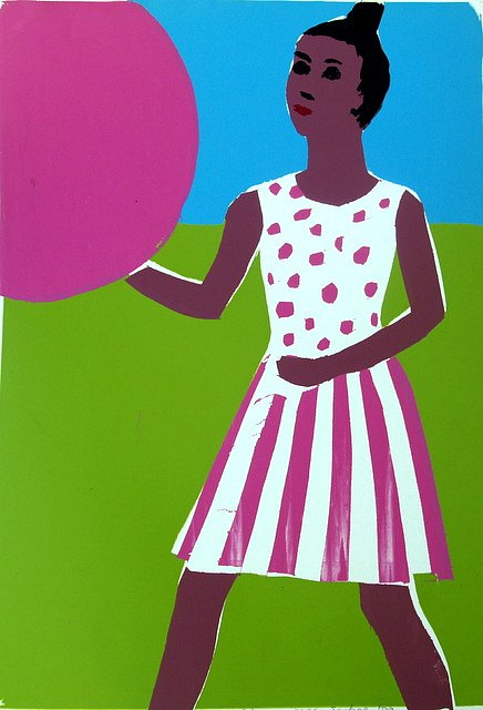 Girl with balloon by Tadhg McSweeney