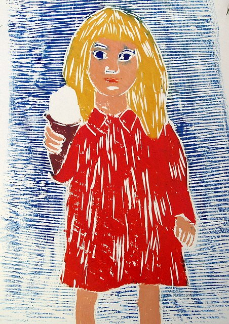 Girl with icecream by Tadhg McSweeney