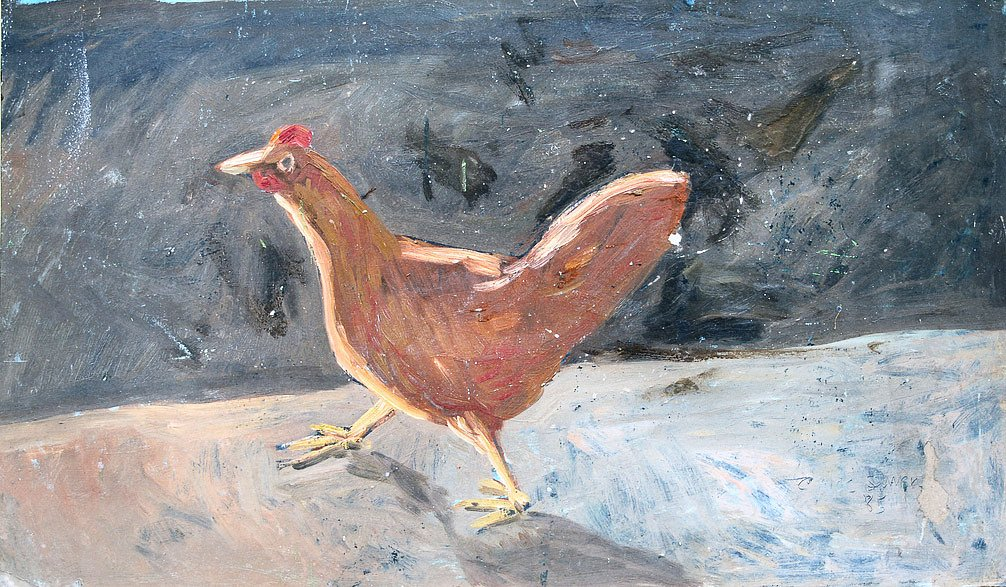 Hen running by Tadhg McSweeney