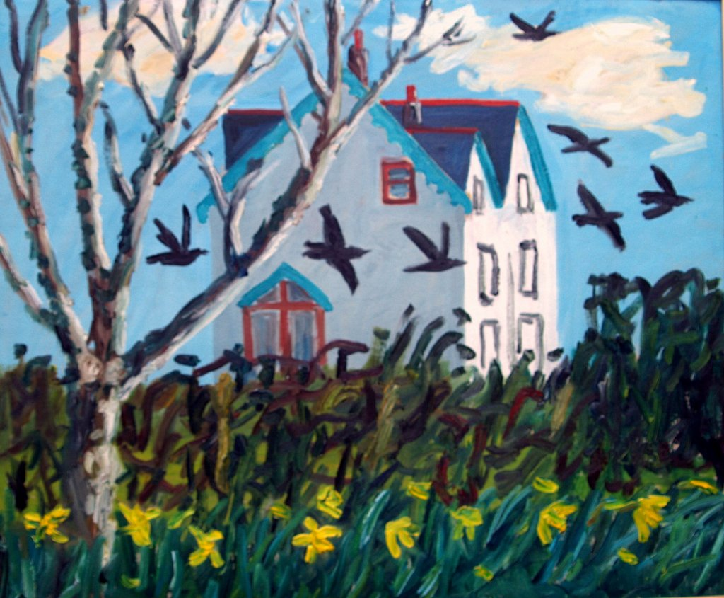 house with crows by Tadhg McSweeney