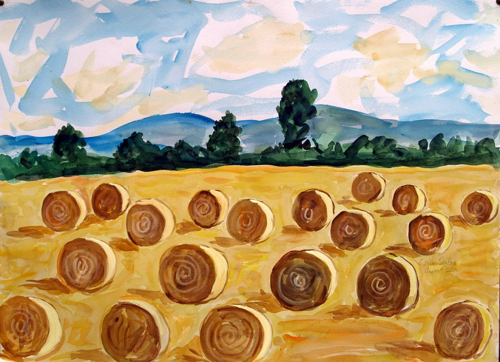 landscape with bales by Tadhg McSweeney