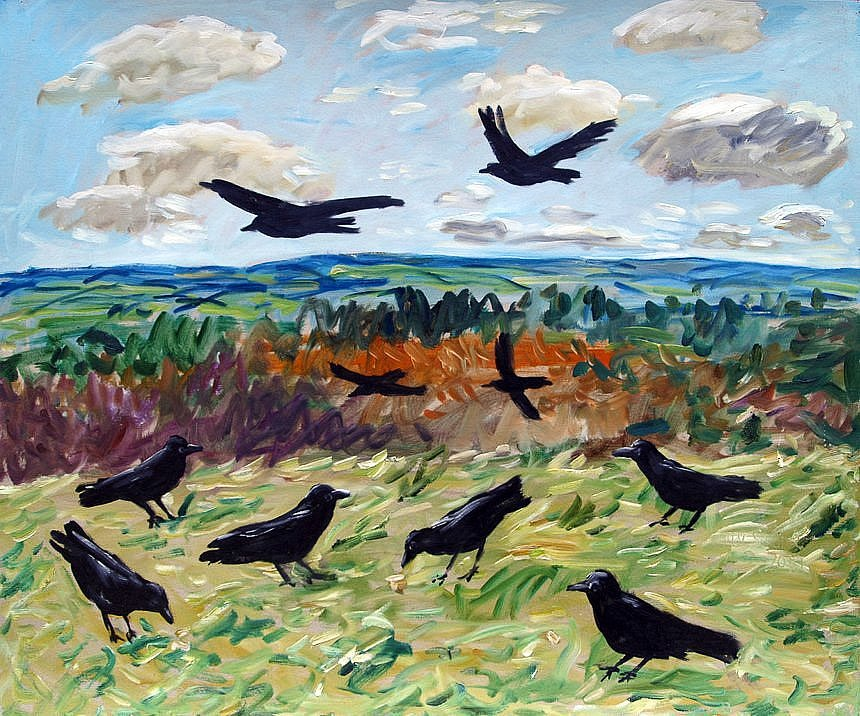 Landscape with crows by Tadgh McSweeney