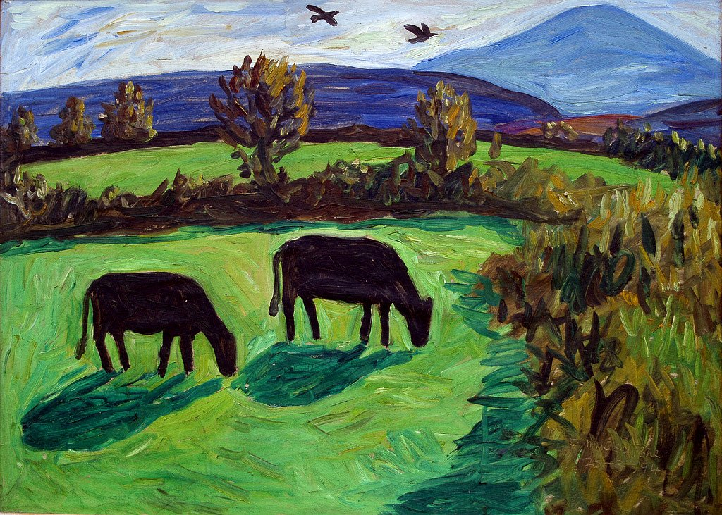 Landscape with Sheha and cattle 1 by Tadgh McSweeney