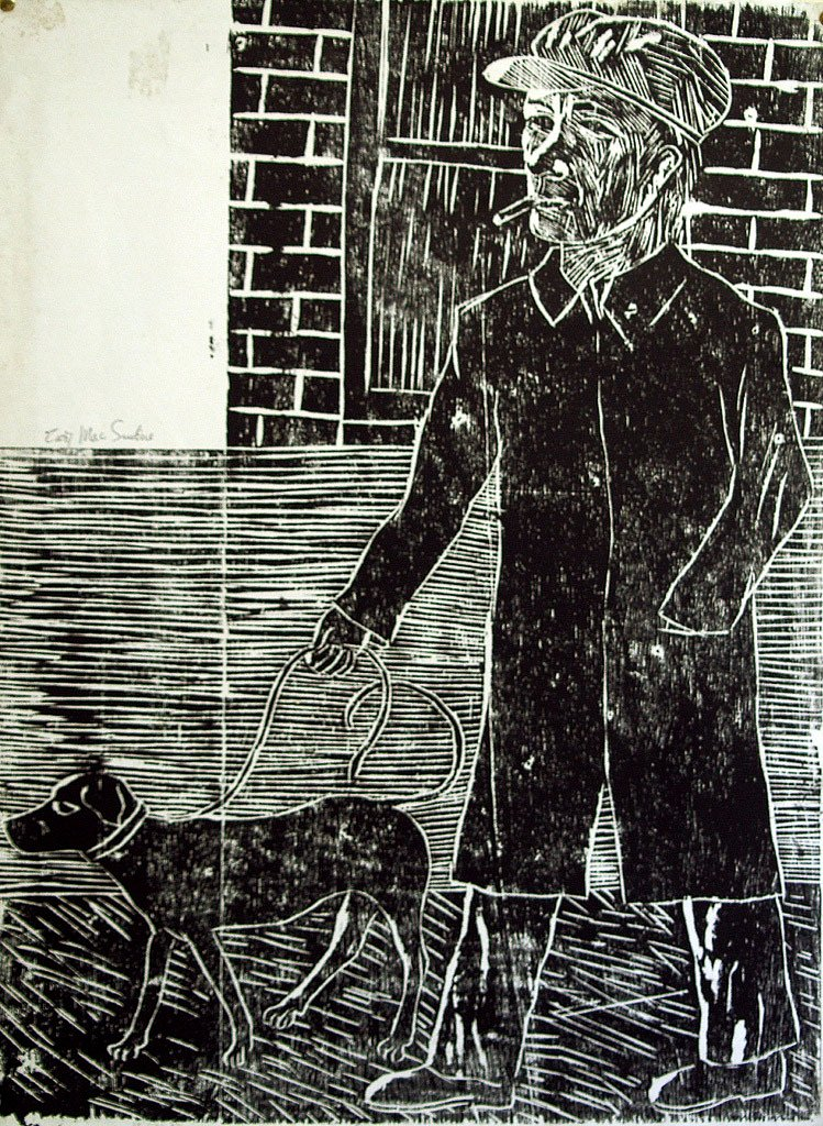 Man with dog by Tadhg McSweeney