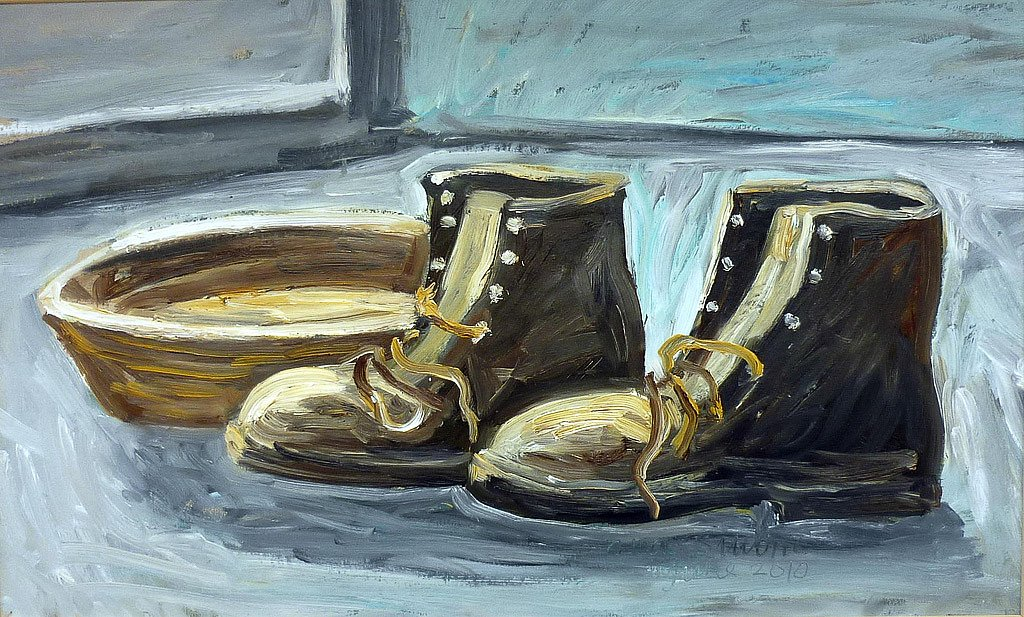 Still life old boots by Tadgh McSweeney
