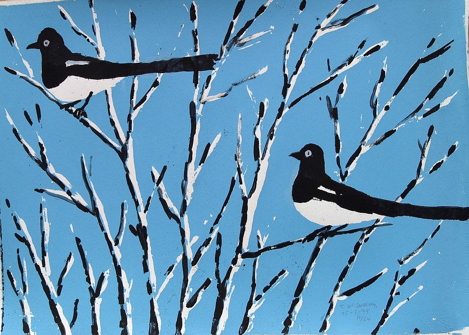 Two Magpies 1 by Tadhg McSweeney