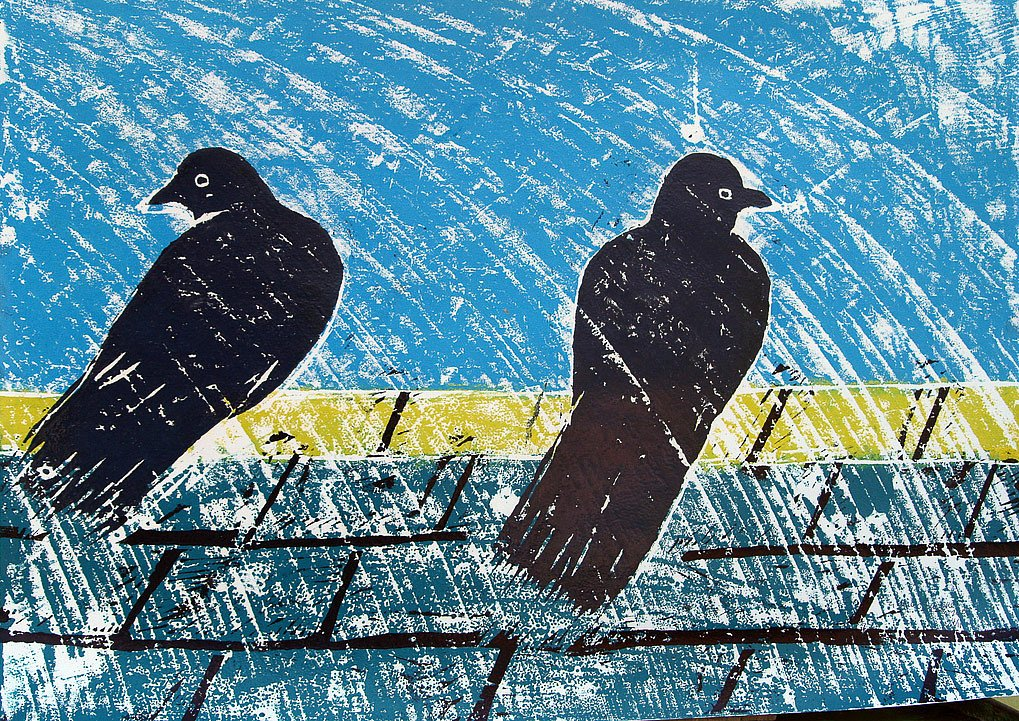Two Pigeons by Tadhg McSweeney