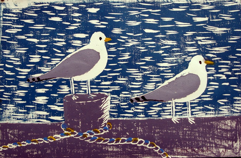 2 seagulls by Tadhg McSweeney