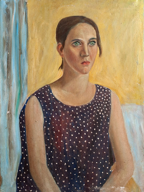Woman in Spotted Dress by tadgh mcsweeney